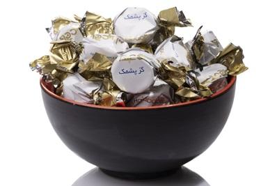 گز شکلاتی مغزدار